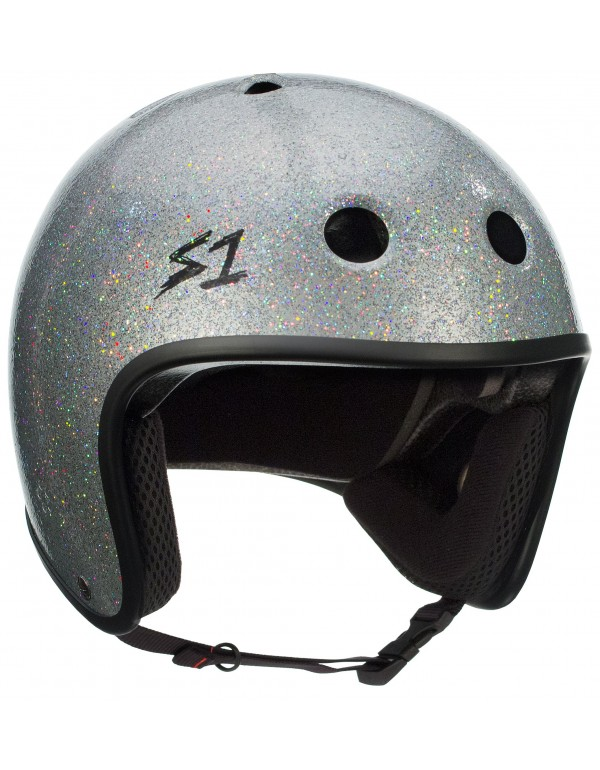 Casco S1 Retro Lifer  Silver Glitter