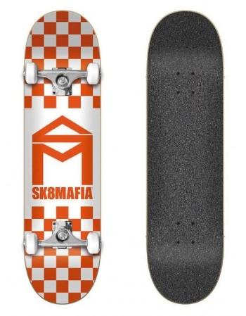 """Sk8mafia House Logo Checker Orange 8"""""""