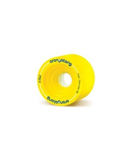Ruedas Longboard Orangatang In Heat 75mm 86a Amarilla (set de 4)