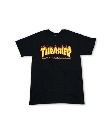 Camiseta Thrasher Flame Logo Tee Negro