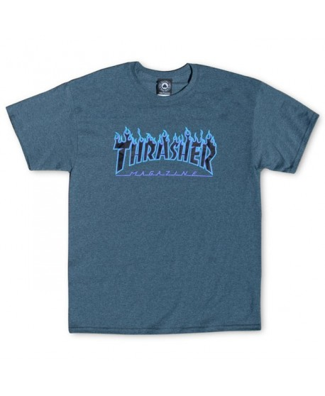 Camiseta Thrasher Dark Heather Flame Logo