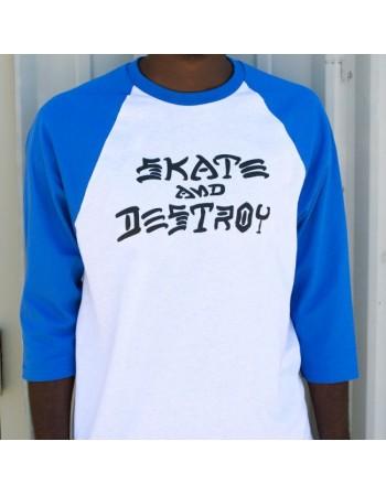 Camiseta Thrasher Skate and Destroy Raglan Red