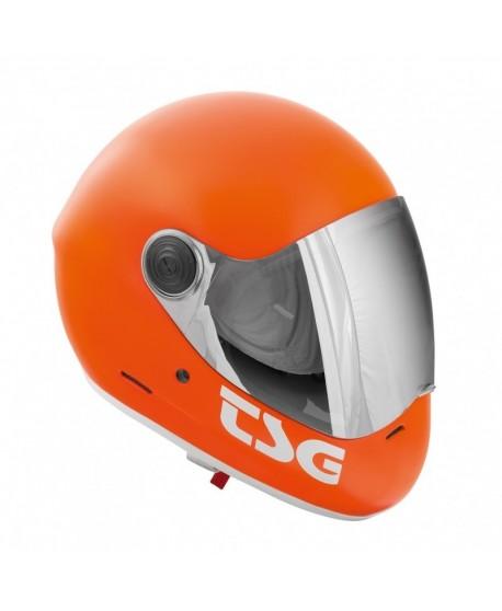 Casco TSG Pass Fullface Satin Naranja