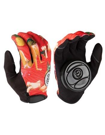 Longboard Gloves Sector 9 Rush Slide Red