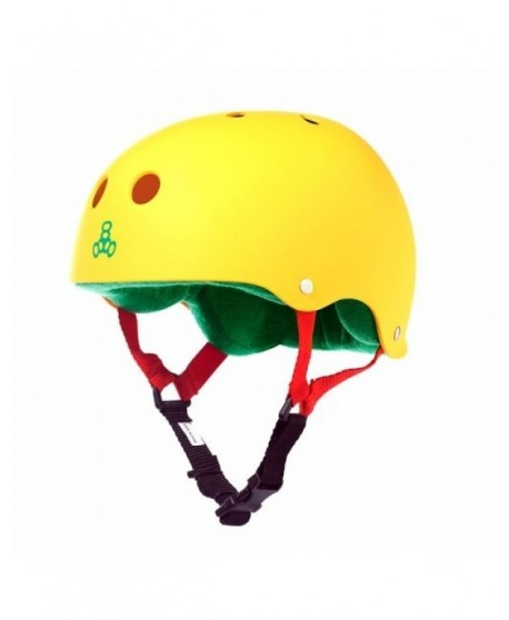 Casco Triple Eight Brainsaver Rasta Yellow