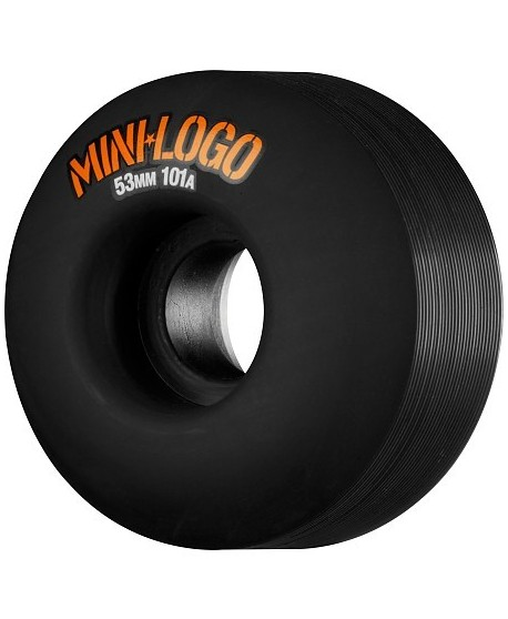 Ruedas Skateboard Mini Logo C-cut 53mm 101A Negras (set 4)