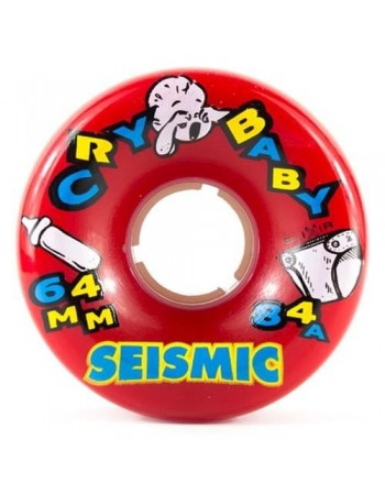 Ruedas Longboard Seismic Cry Baby 64mm 84a Red (set 4)