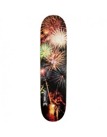 """Skateboard MiniLogo Small Bomb 127 Pizza 7.75""""x31.75"""" (solo tabla)"""
