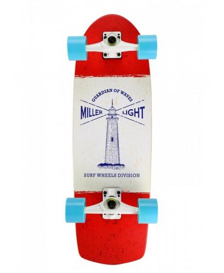 """Surfskate Miller Lighthouse + Seismic 30,5"""" Completo"""