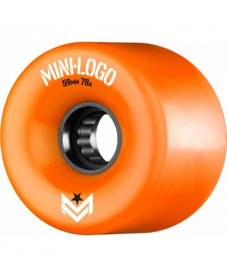 Mini Logo AWOL A CUT 59mm 78a Naranjas (set 4)