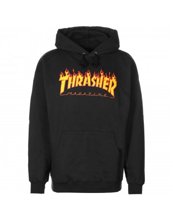 Sudadera Thrasher Skate Mag Flame Black
