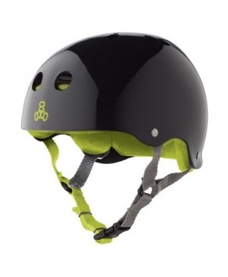 Casco Triple Eight Brainsaver Black Gloss Green