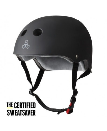 Casco Triple Eight Dual Certified Negro Mate