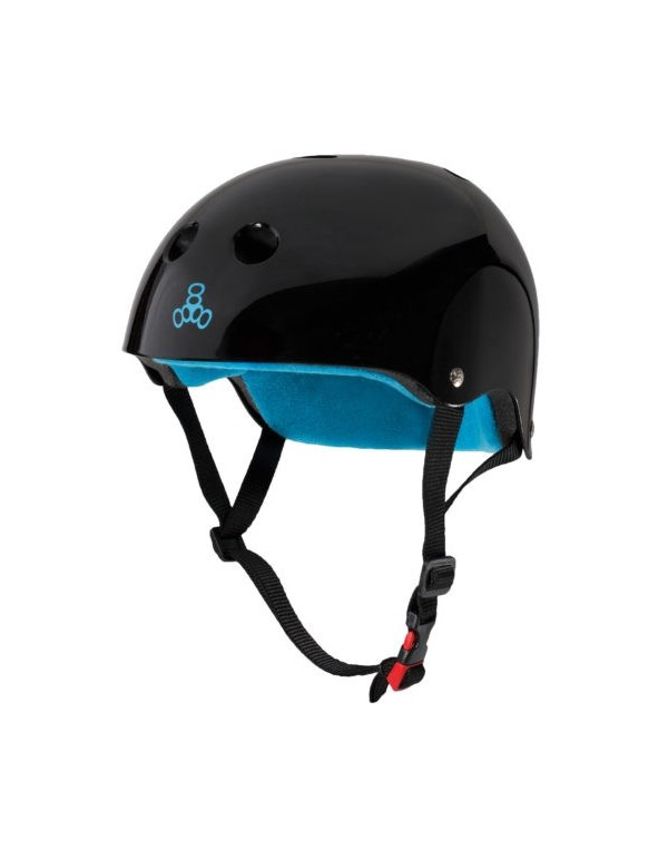 Casco Triple Eight Dual Certified Negro Gloss