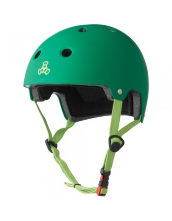 Casco Triple Eight Dual Certified Verde