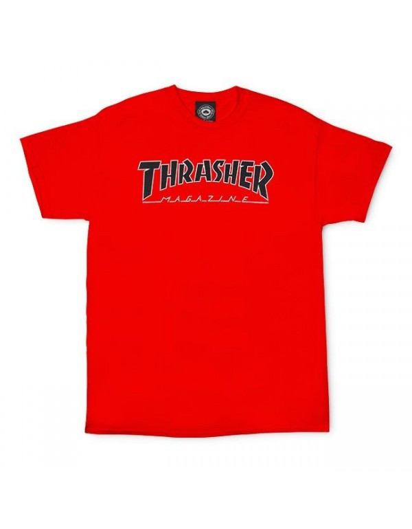 Camiseta Thrasher Outlined Roja