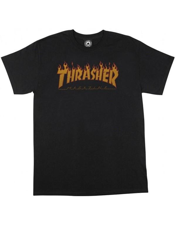 Camiseta Thrasher Flame Halftone tee