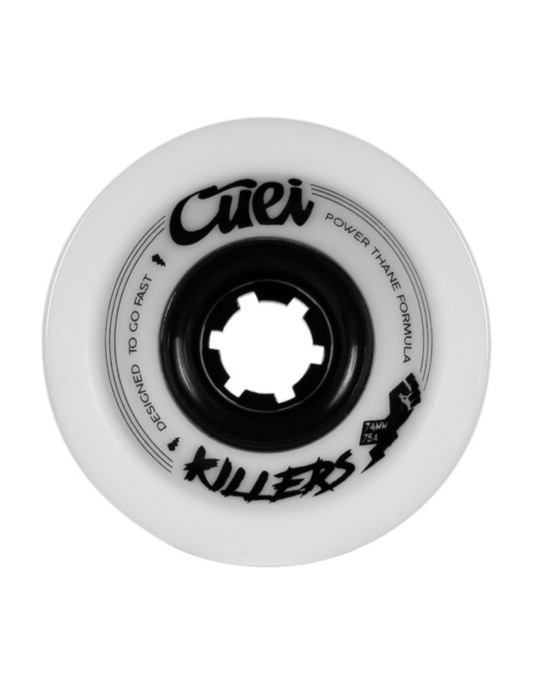 Ruedas Longboard Cuei Killers 74mm 75a Power Thane Blancas