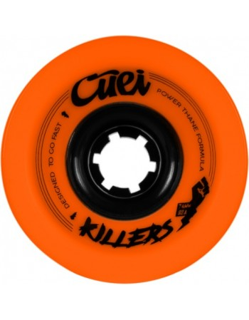 Ruedas Longboard Cuei Killers 74mm 82a Power Thane Naranja