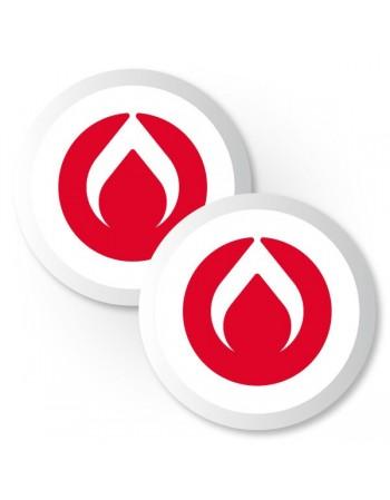 Urethane Burners Puck standard Rojo (2)