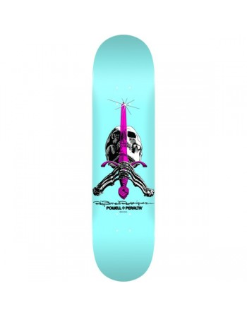 "Skateboard Powell Peralta Skull & Sword 9"" Pastel Blue(Solo Tabla)"
