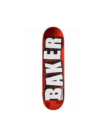 """Skateboard Baker Brand Logo Red Foil 8,2"""""""