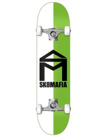 """Skateboard Sk8mafia House Logo Split Green 7,87"""" (Completo)"""