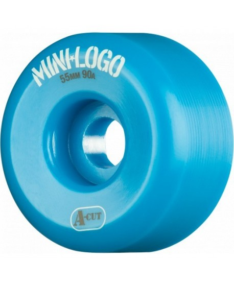 Ruedas Skateboard Mini Logo A-cut 55mm 90a Hybrid (set 4) Azules