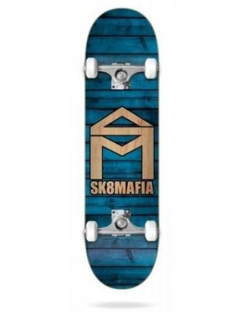Skateboard Sk8mafia House Logo Wood Blue 7,87 (Completo)