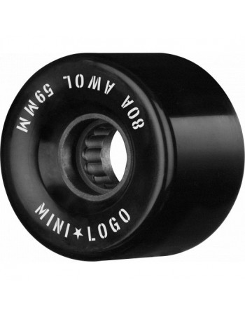 Mini Logo AWOL A CUT 59mm 80a negras (set 4)
