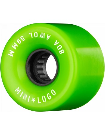 Mini Logo AWOL A CUT 59mm 80a Verdes (set 4)