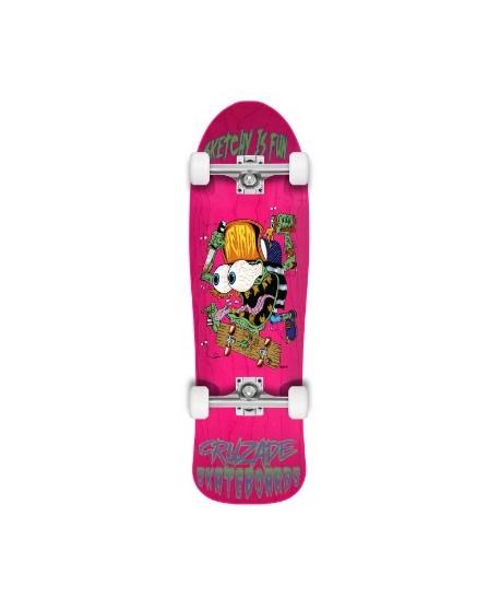 "Skateboard Cruzade Sketchy is fun 9"" (Completo)"