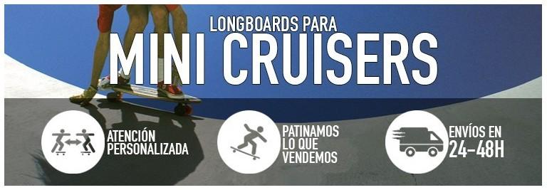 Tablas de longboard pequeñas y mini-cruisers