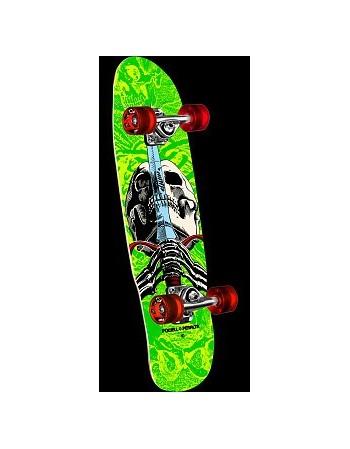 """Skateboard Powell Peralta Mini Skull & Sword 8"""" Naranja (Completo)"""