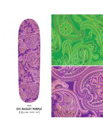 "Skateboard Evisen Paisley Purple 8,86"" (Solo Tabla)"