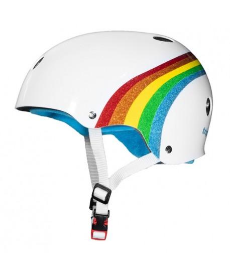 Casco Triple Eight Brainsaver Sweatsaver Certified Rainbow Sparkle