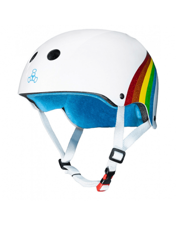 Casco Triple Eight Brainsaver Sweatsaver Certified Rainbow Sparkle