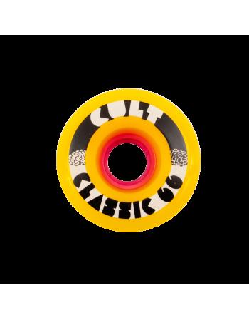 Ruedas Longboard Cult Classic 66mm 78a Yellow (Set de 4)