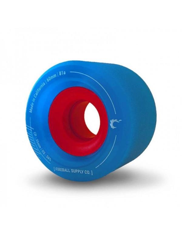 Ruedas Longboard Fireball Tinder 60mm 81a Azul (Set de 4)