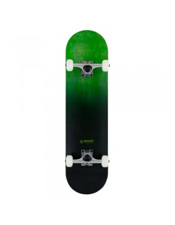"Skateboard Rocket Doube Dipped Green 8"" (Completo)"