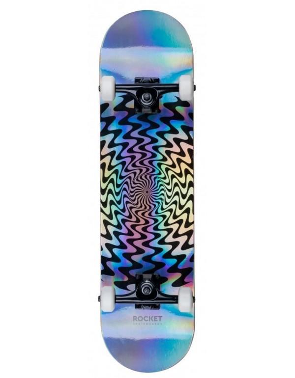 "Skateboard Rocket Warp Foil Silver 8"" (Completo)"