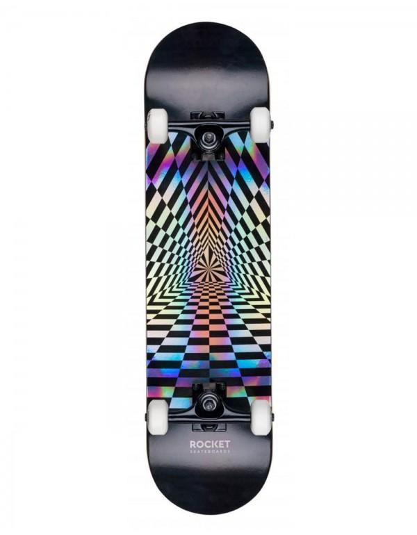 """Skateboard Rocket Prism Foil Silver 8"""" (Completo)"""