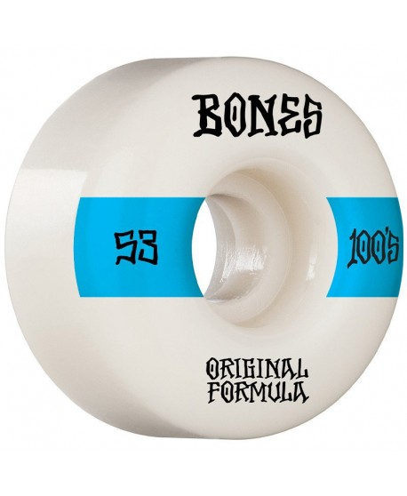 Ruedas Skateboard 100'S 14 V4 Wide White 53mm 100a (Set 4)