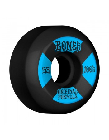 Ruedas Skateboard Bones 100'S V5 OGF Black 53mm 100a (Set 4)