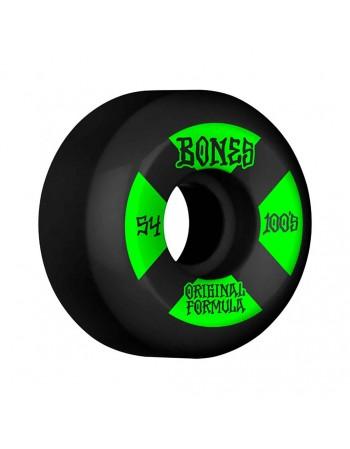Ruedas Skateboard Bones 100'S V5 OGF Black 54mm 100a (Set 4)