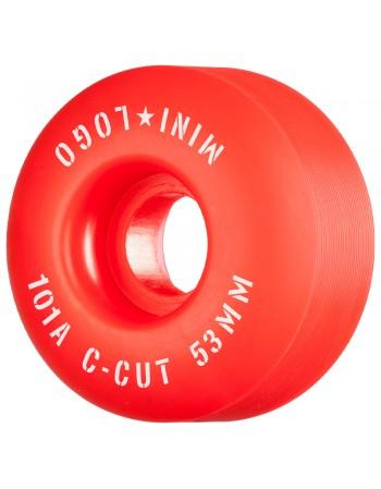 Ruedas Skateboard Mini Logo C-Cut 53mm 101a Red (Set de 4)