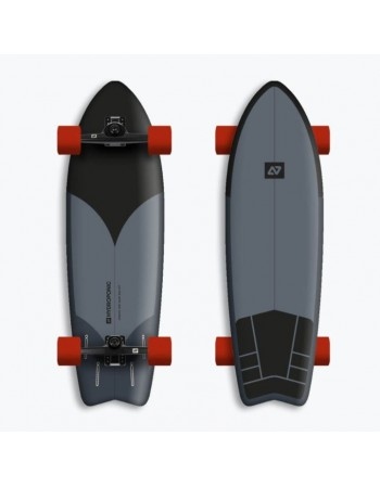 """Surfskate Hydroponic Surf Black/Grey 30,8"""" (Completo)"""
