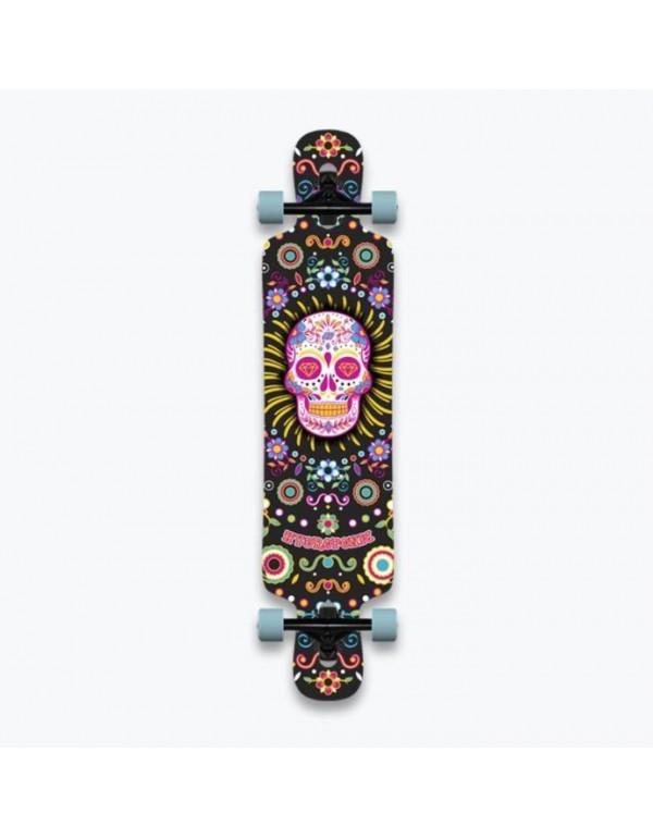 """Longboard Hydroponic Mexican Skull 39"""" (Completo)"""