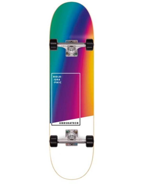 """Skate BDskateCO Holographic Rainbow 8"""" (completo)"""