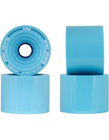 Ruedas Longboard Orangatang In Heat 75mm 77a Azul (set de 4)